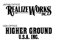Japan Office: Realizeworks Inc  |  USA Office: Higher Ground USA Inc.